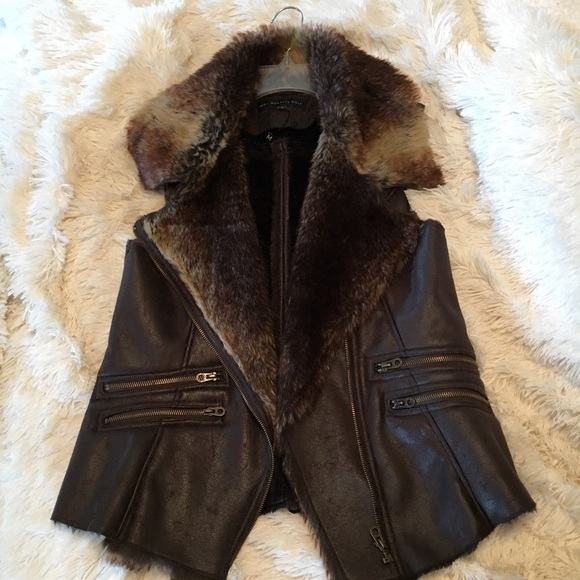 Mox Members Only Jackets & Blazers - Vest with Faux Fur